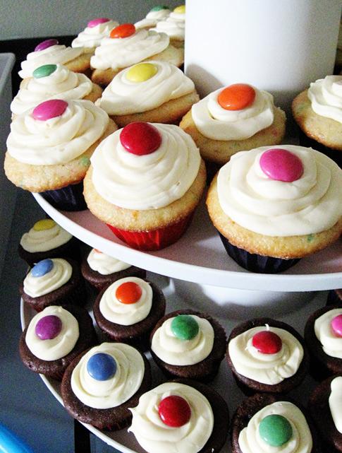 Smarties-Mini-Cupcakes