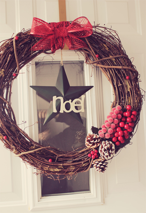 Holiday Week Diy Christmas Grapevine Wreath Brittany Stager