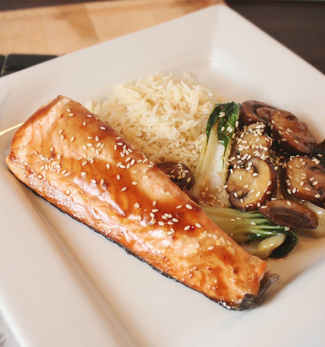 Salmon-Teriyaki-Mushrooms