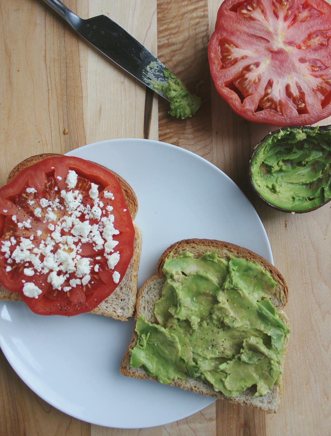 Feta-Tomato-Toast