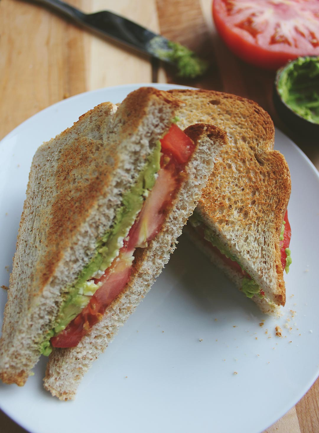 Toasted-Tomato-Sandwich