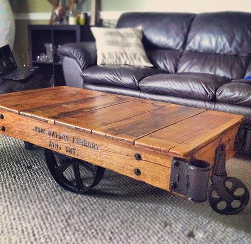 Reclaimed Mill Cart Coffee Table: Aberfoyle Market Finds: Rail Cart Coffee Table + A Mini