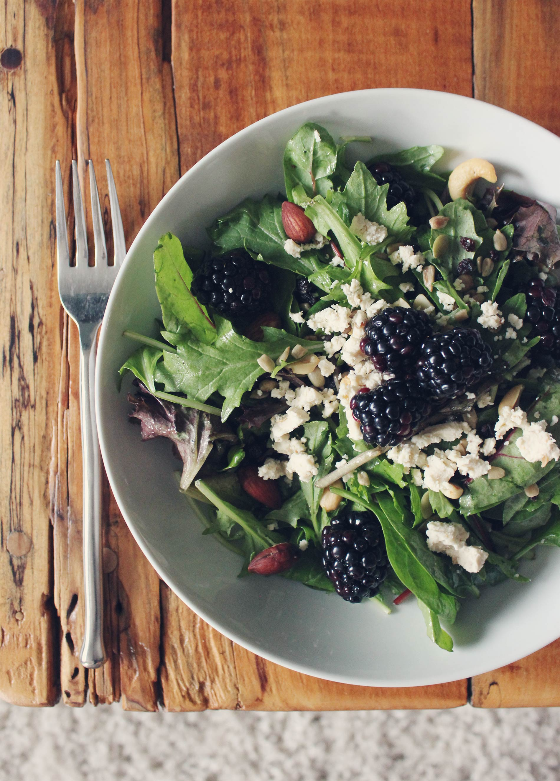Fig Balsamic Goat Cheese Salad