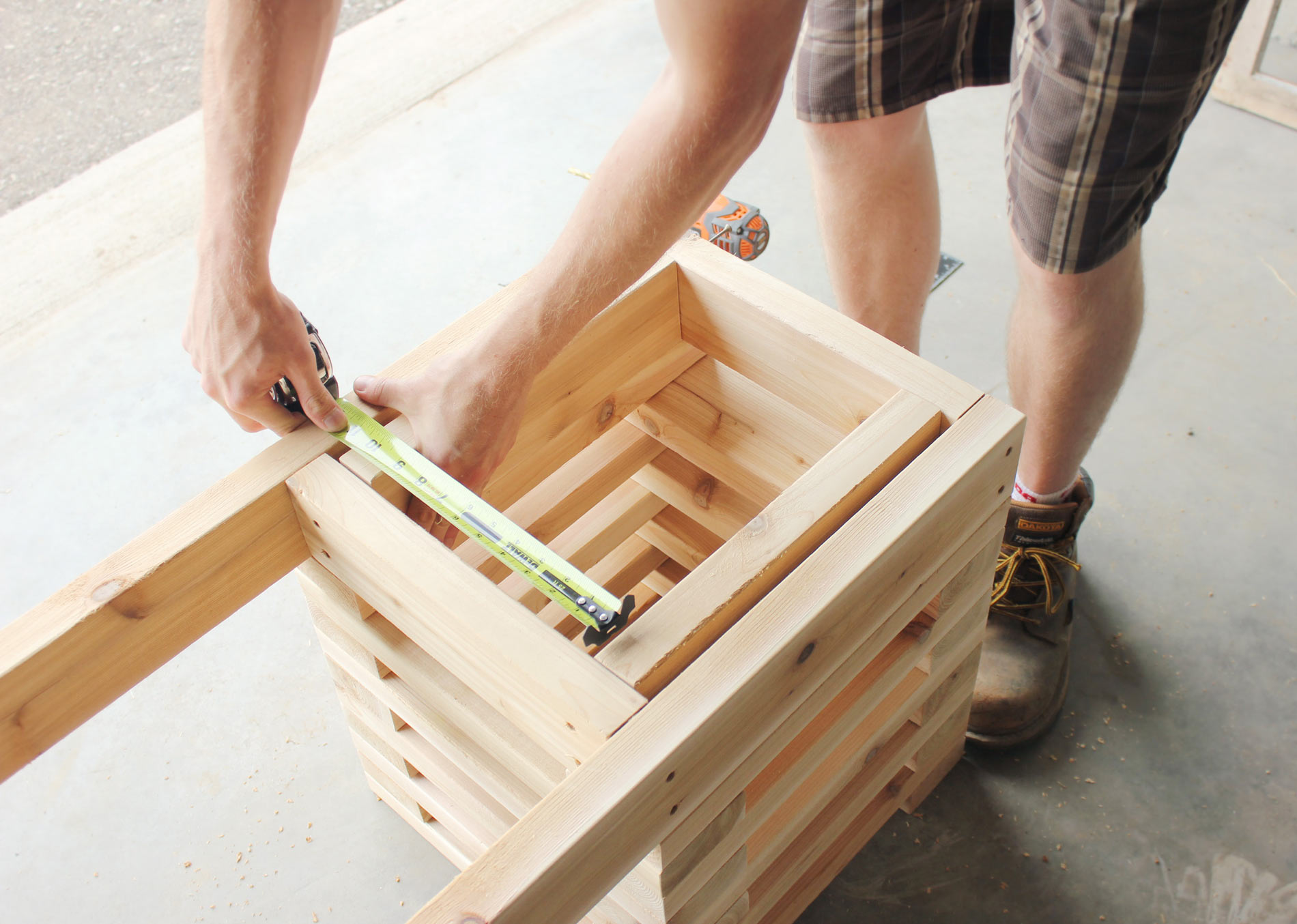 Cedar-Bench-Building-Frame