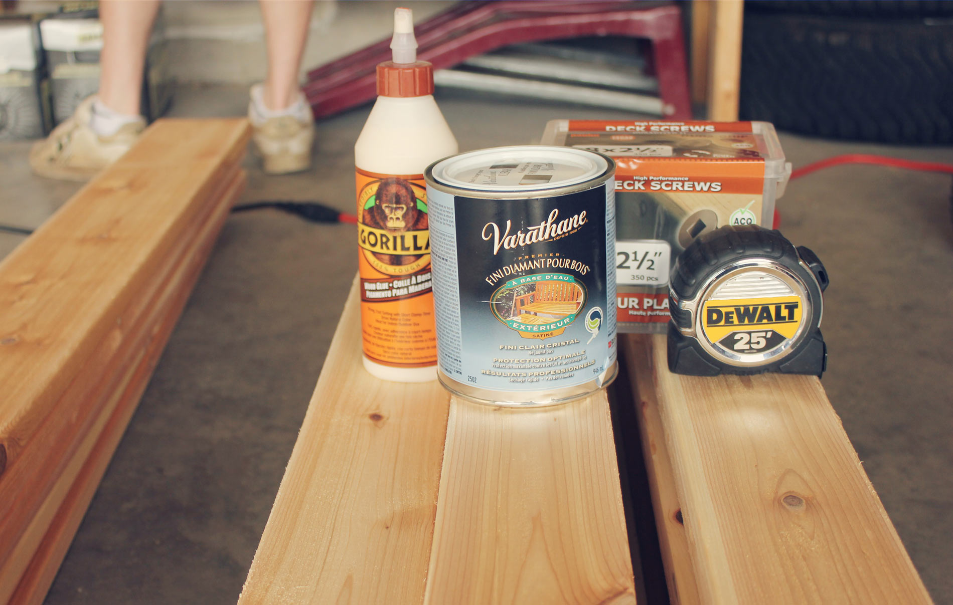 Cedar-Bench-supplies