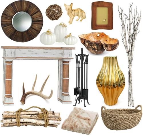 Rustic-Fall-Mantel-Fireplace