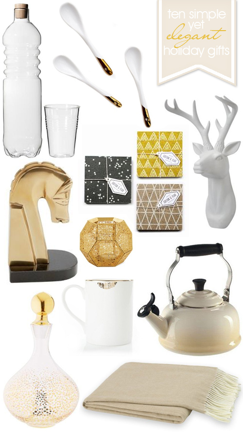 Simple Elegant Holiday Gift Guide