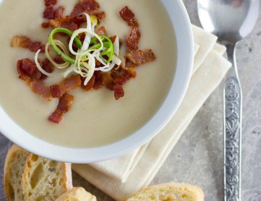 Creamy Potato, Leek and Bacon Soup