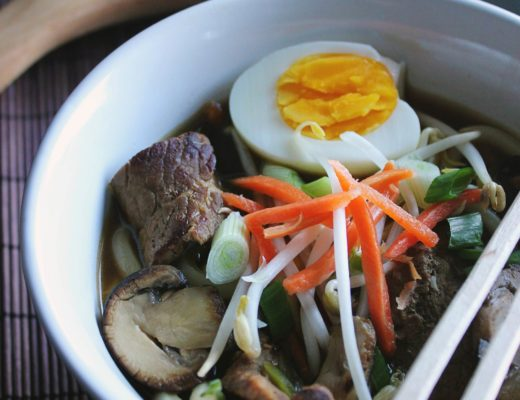 Spicy Beef and Mushroom Udon Soup