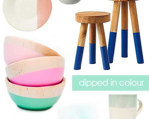 Colour Dipped Home Decor