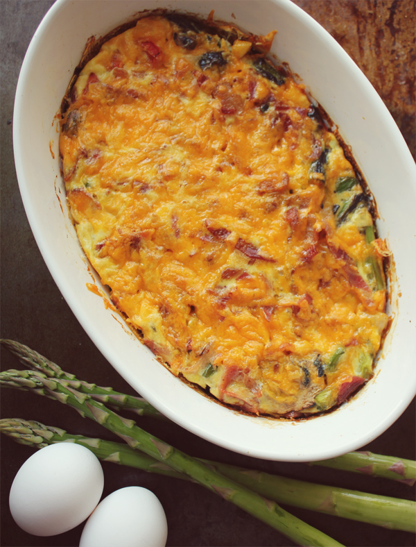 Easy Spring Vegetable & Bacon Frittata