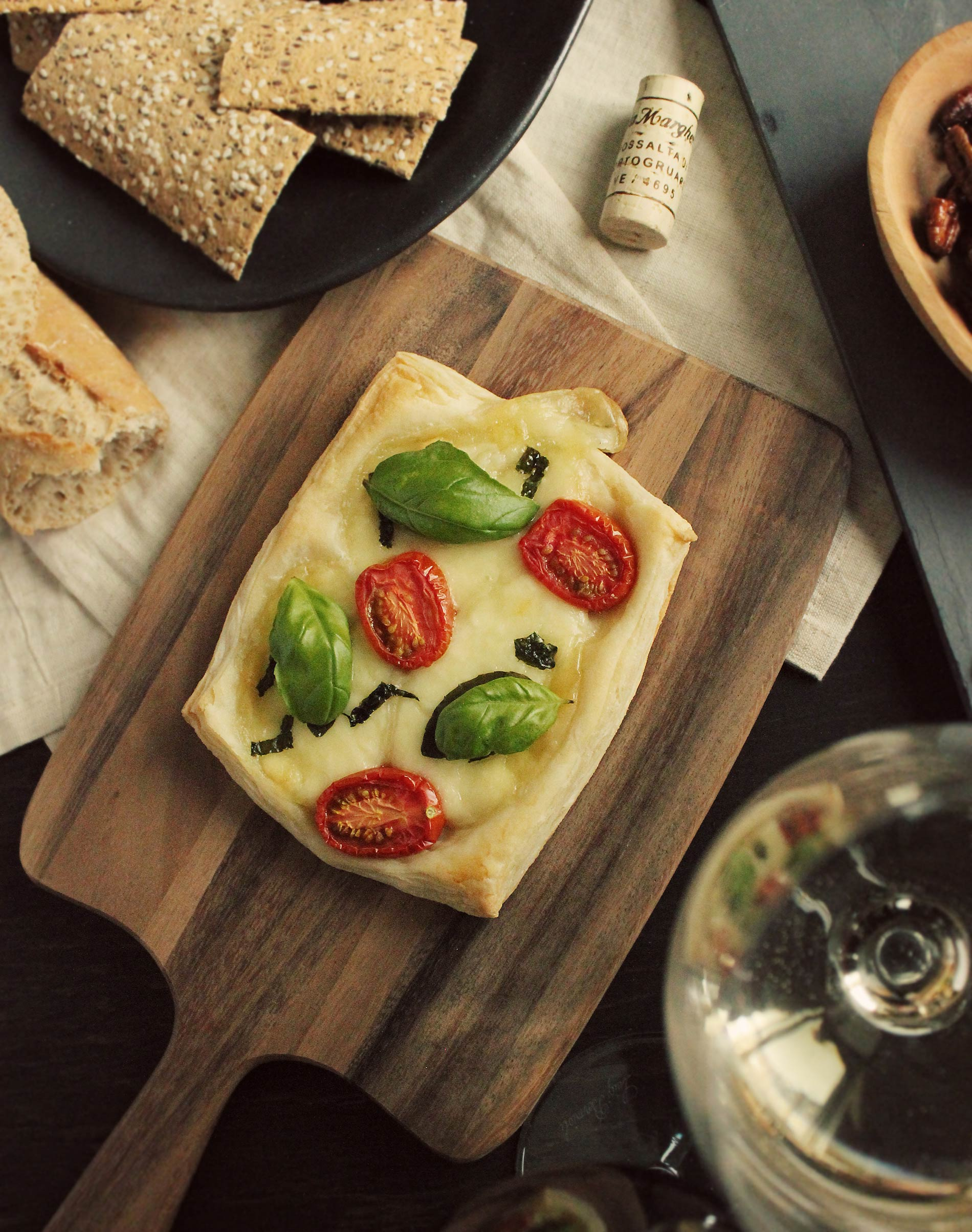 Tomato, Basil & Mozzarella Caprese Tarts