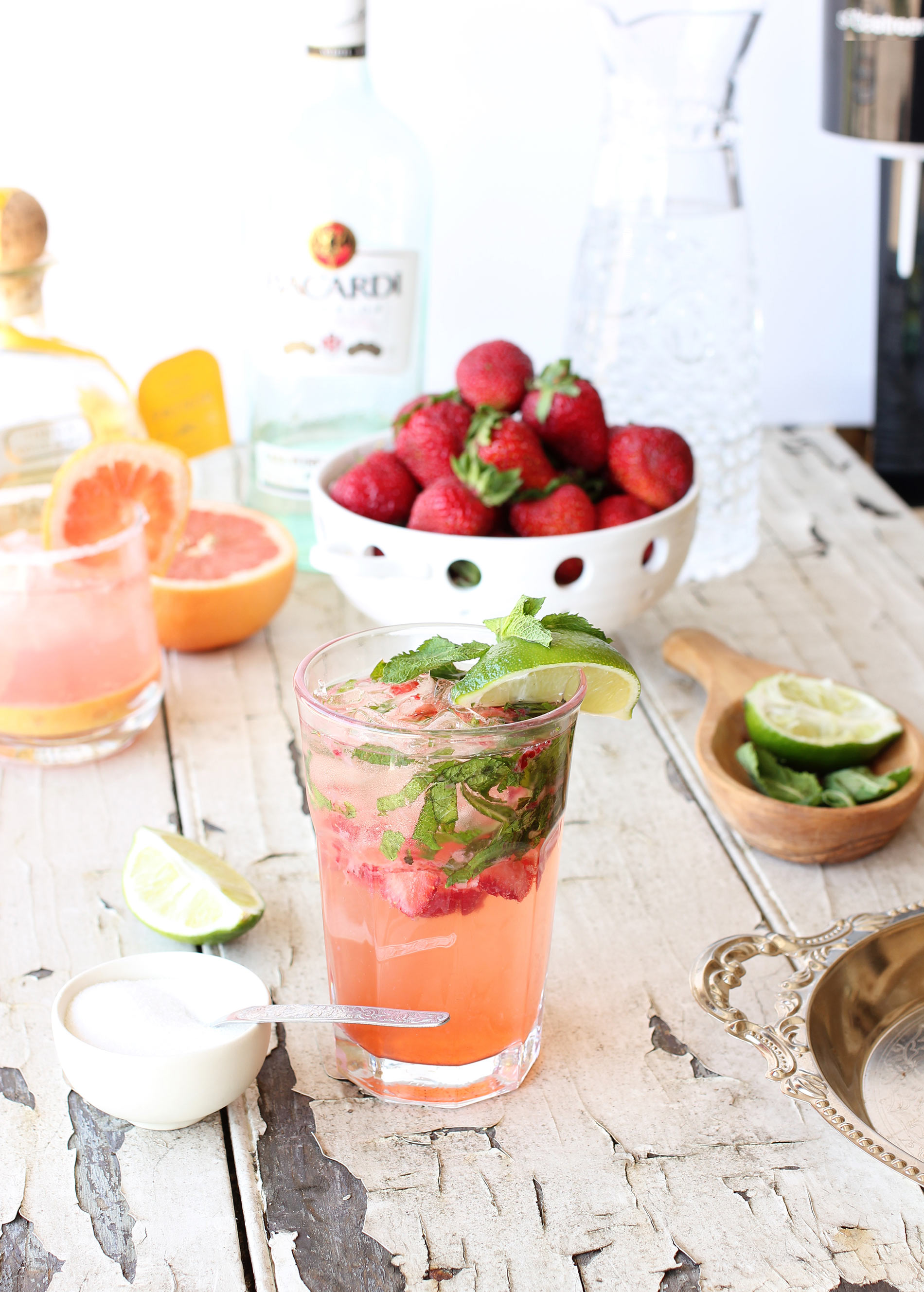 Ontario Local Strawberry and Mint Mojito with SodaStream