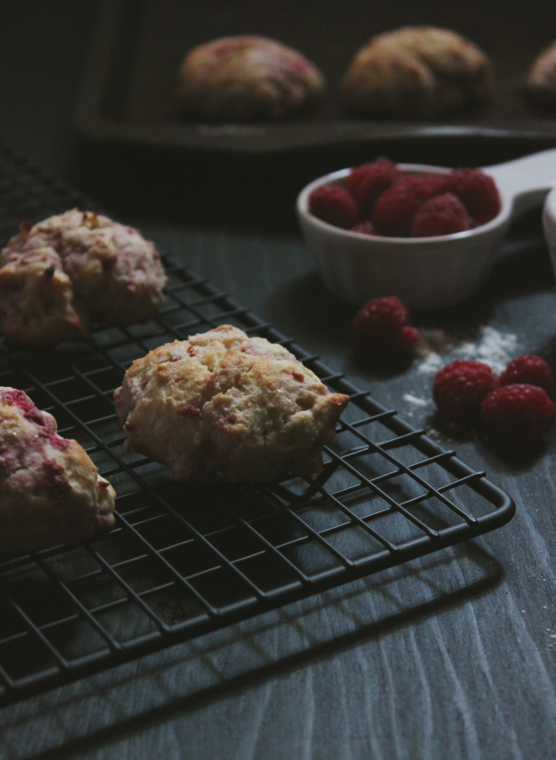 Simple Raspberry Tea Biscuits