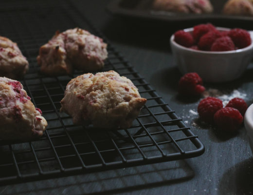 Simple Raspberry Tea Biscuits
