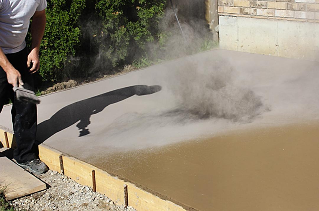 how to pour a diy concrete patio - Diy Concrete Patio