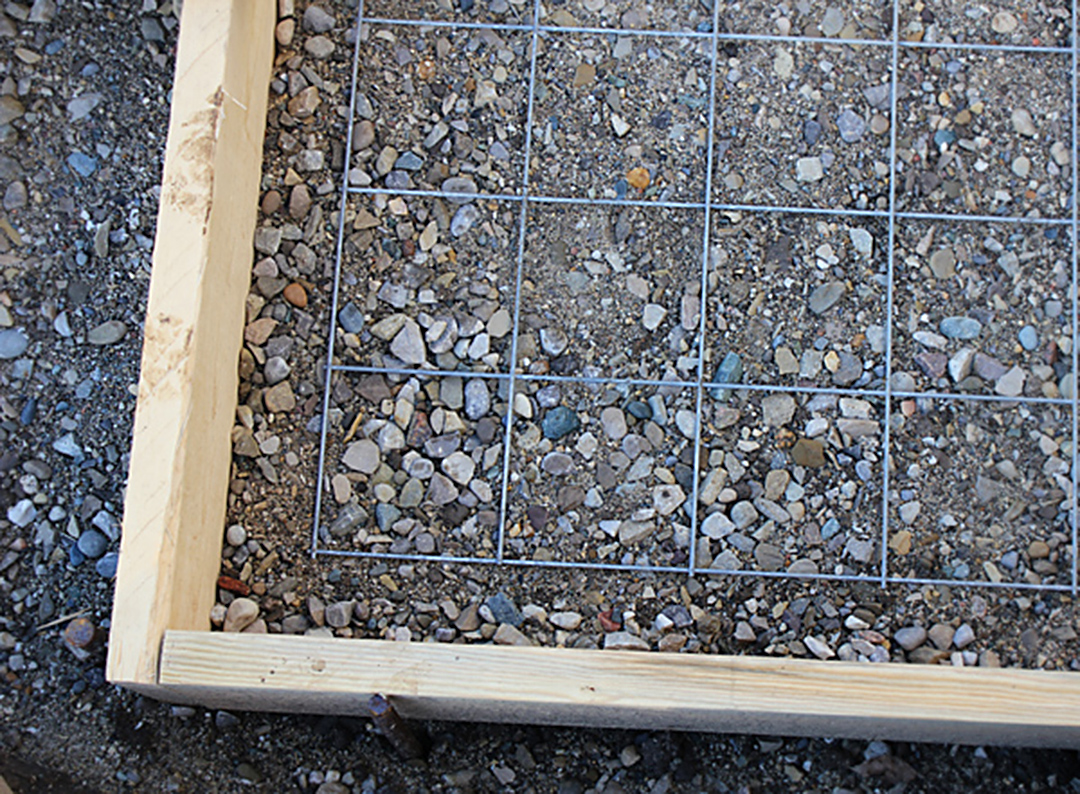 Project backyard pouring a concrete pad brittany stager for Concrete house forms