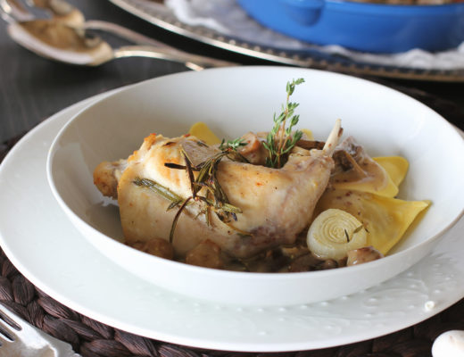 Braised Rabbit with Dijon Sauce