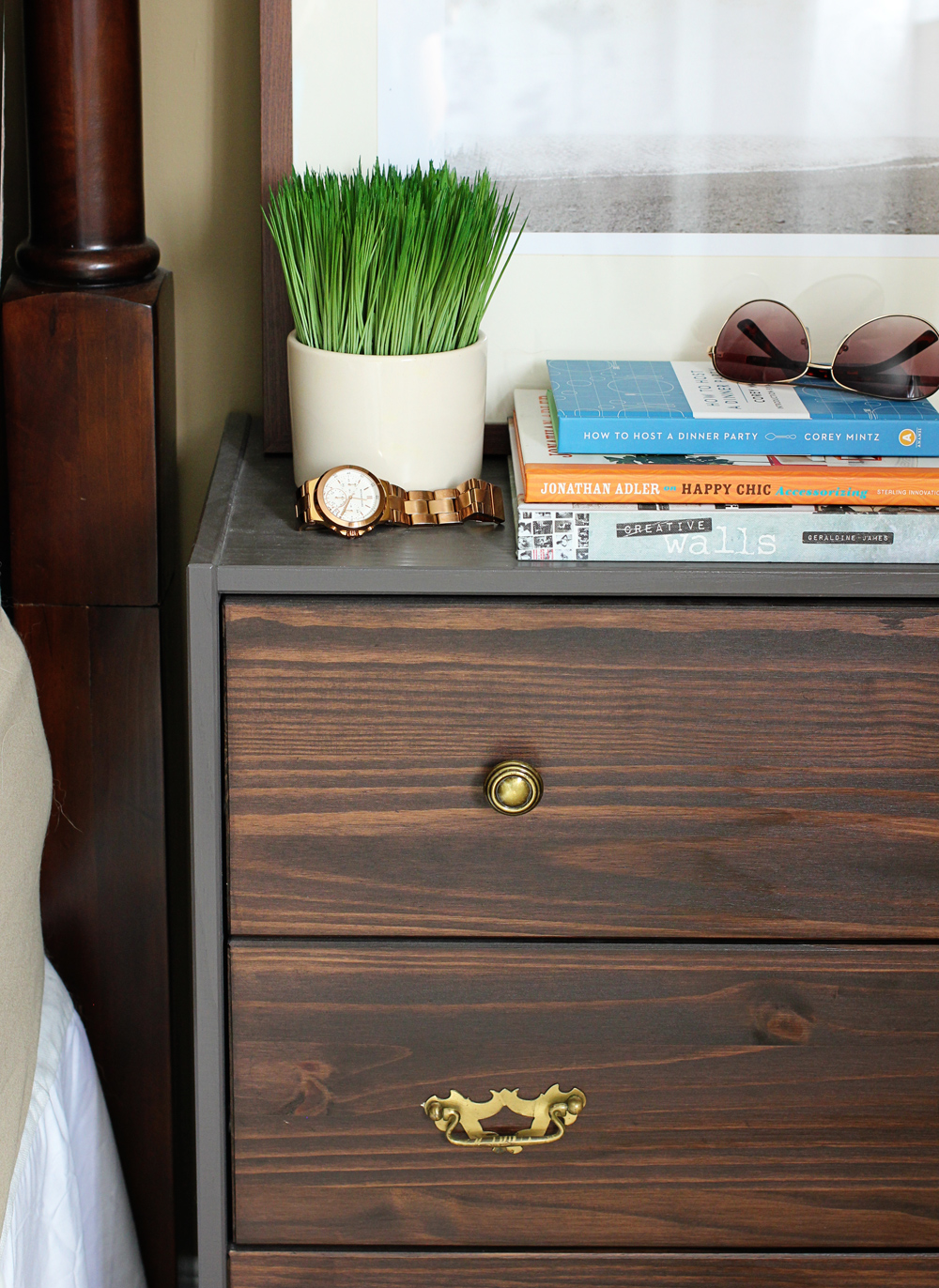 ikea rast nightstand hack brittany stager. Black Bedroom Furniture Sets. Home Design Ideas
