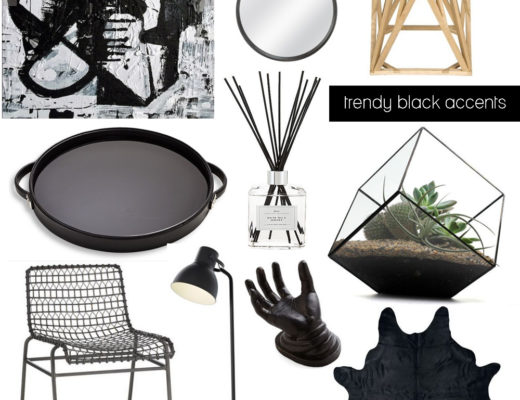 Trendy Black Home Decor Accents