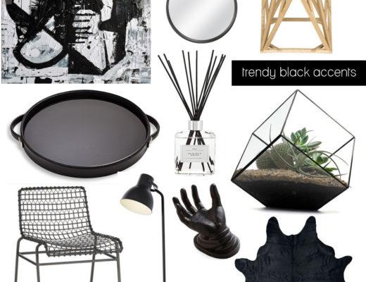 Trendy Black Home Decor Accents