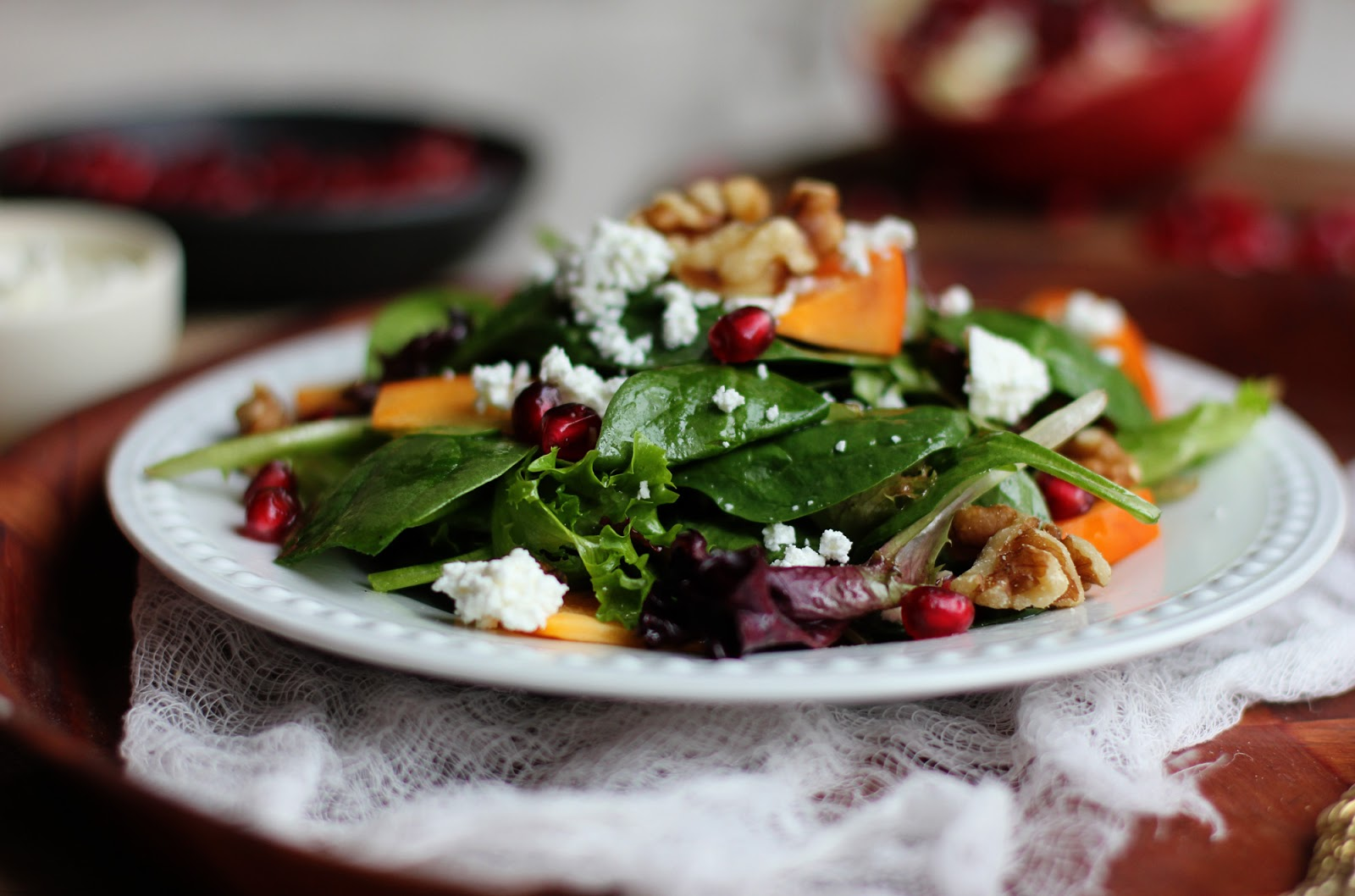 Persimmon-Pomegranate-Salad