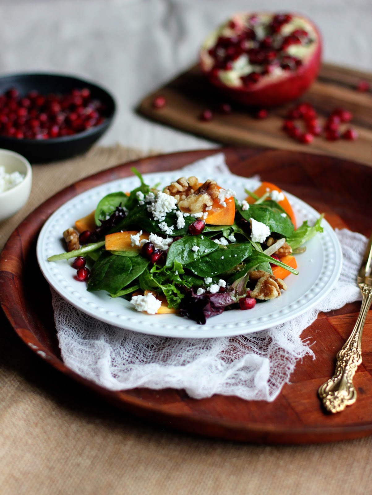 Pomegranate-Persimmon-Salad