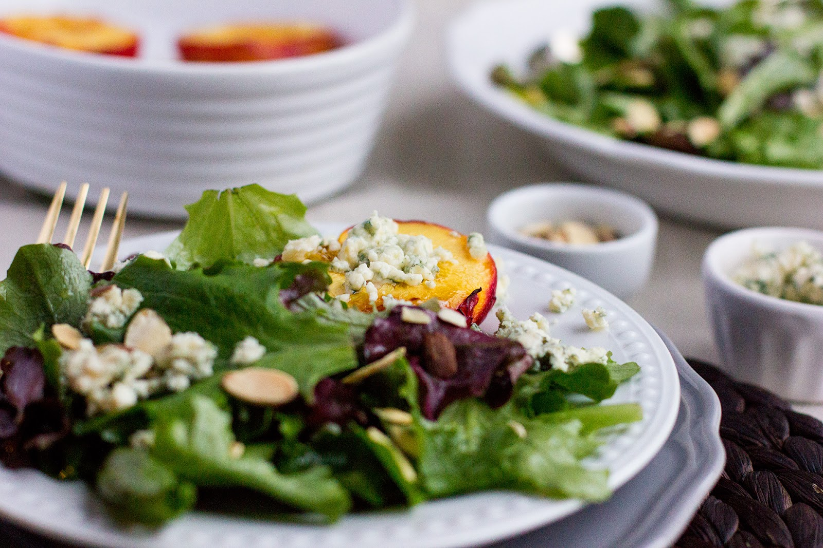 Nectarine-Blue-Cheese-Salad