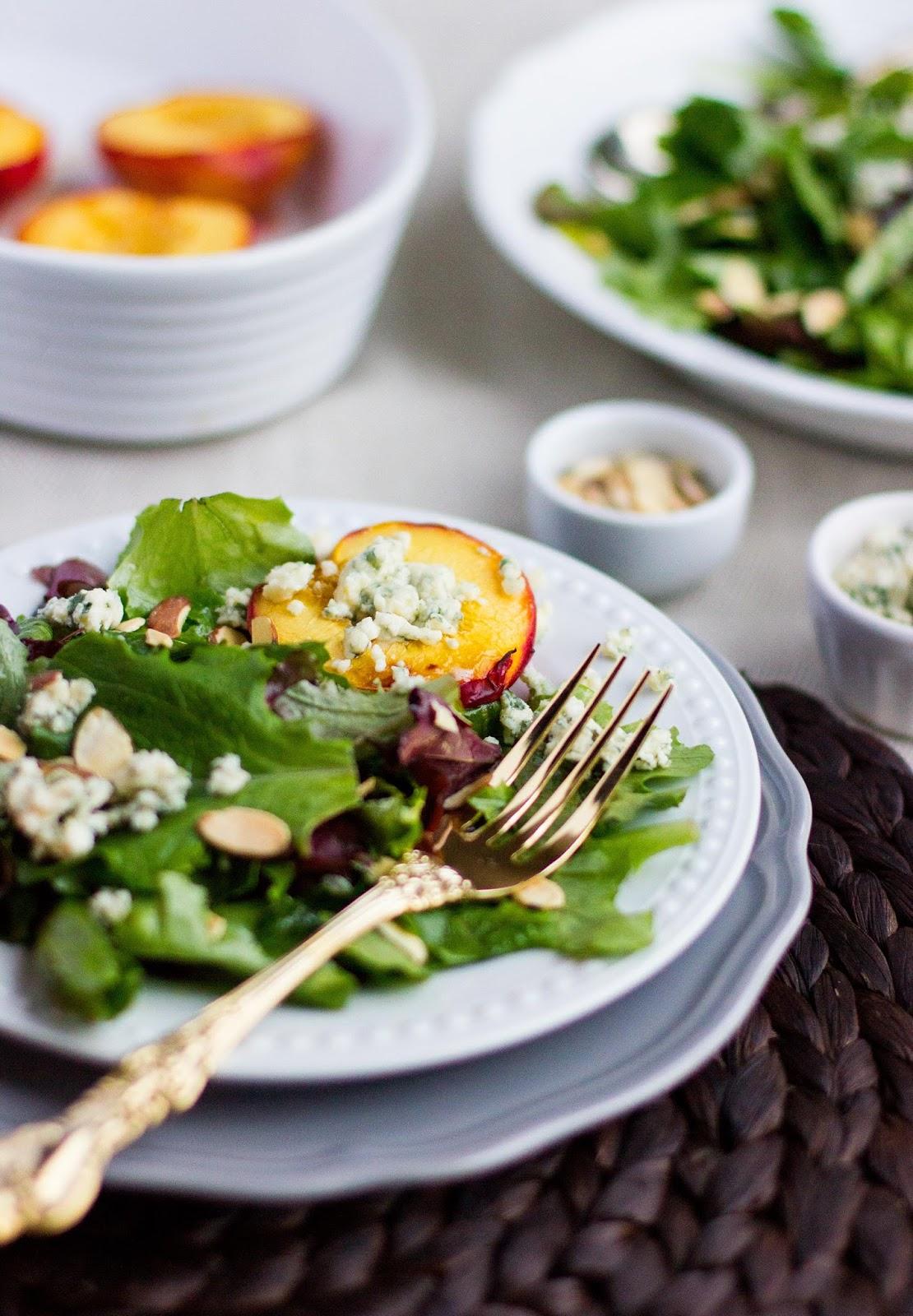 Roasted-Nectarine-Blue-Cheese-Salad