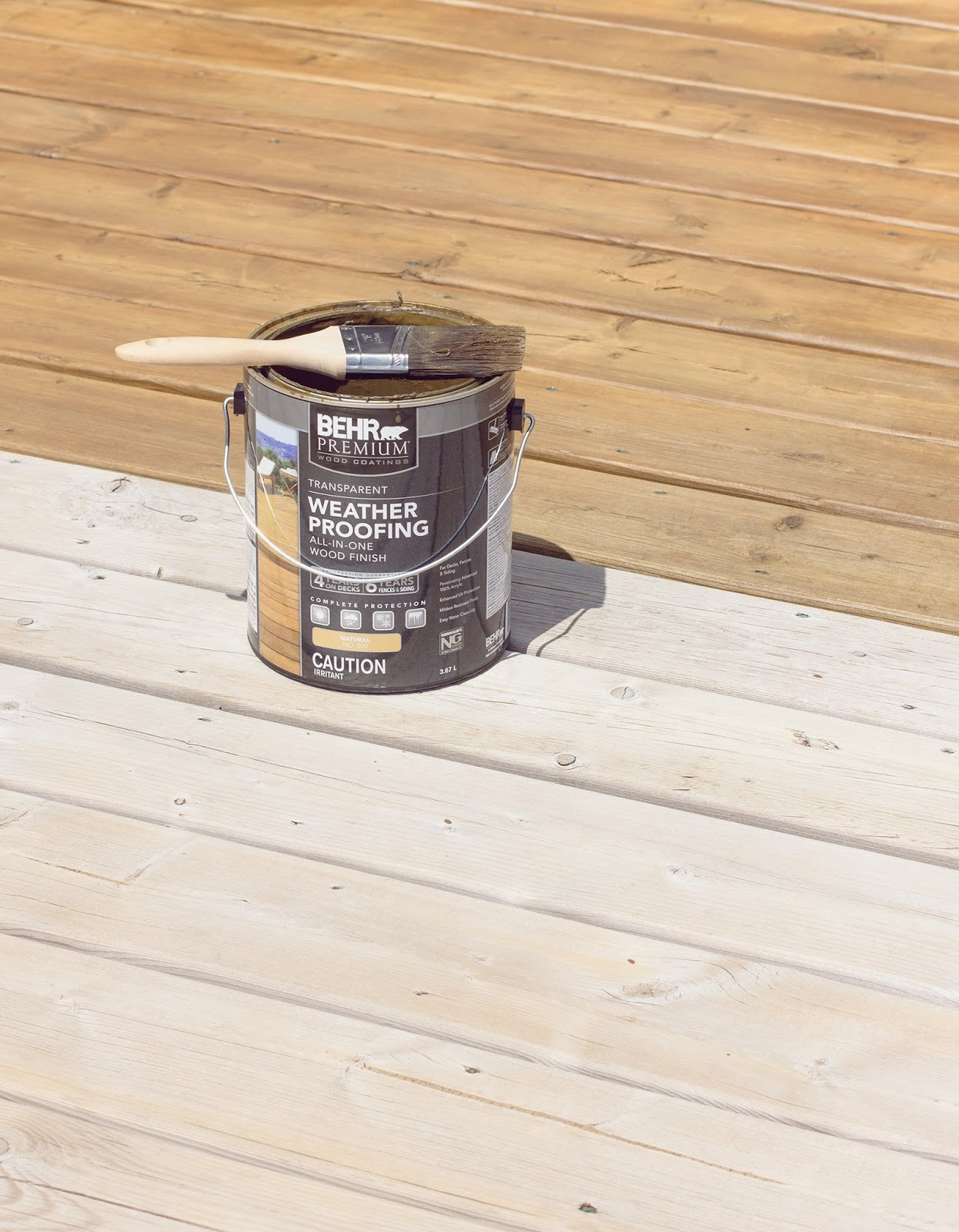 HDBlogSquad // How to Clean & Stain a Deck • Brittany Stager