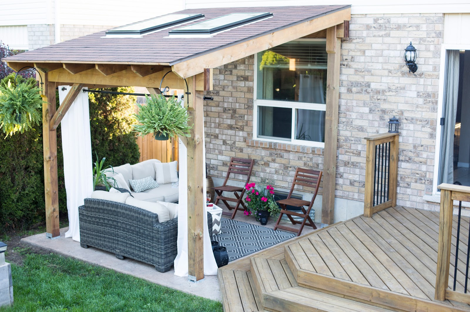 Covered Patio Reveal - Brittany Stager on Patio Lean To Ideas id=94986
