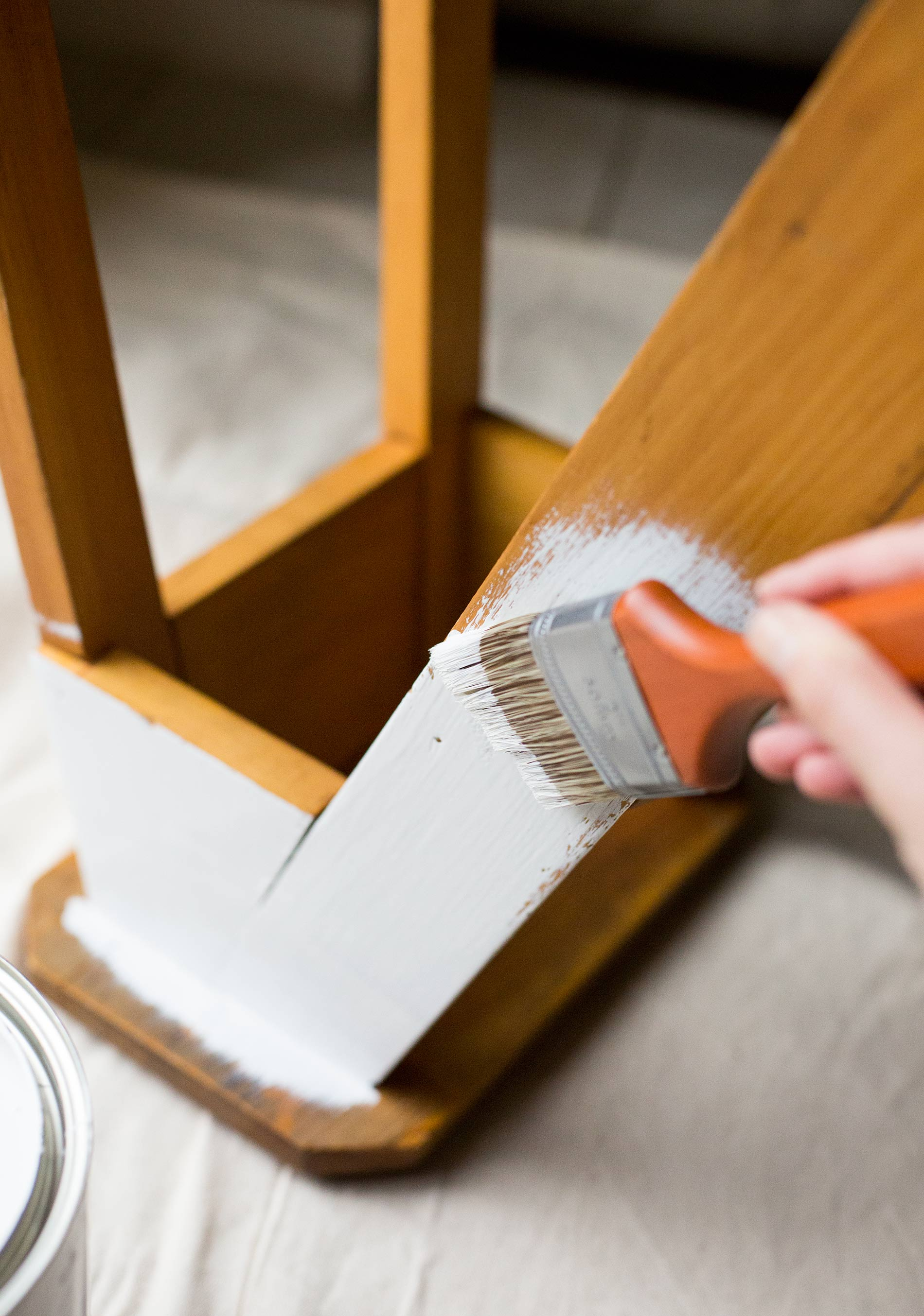 Applying-CIL-Paint-To-Stool