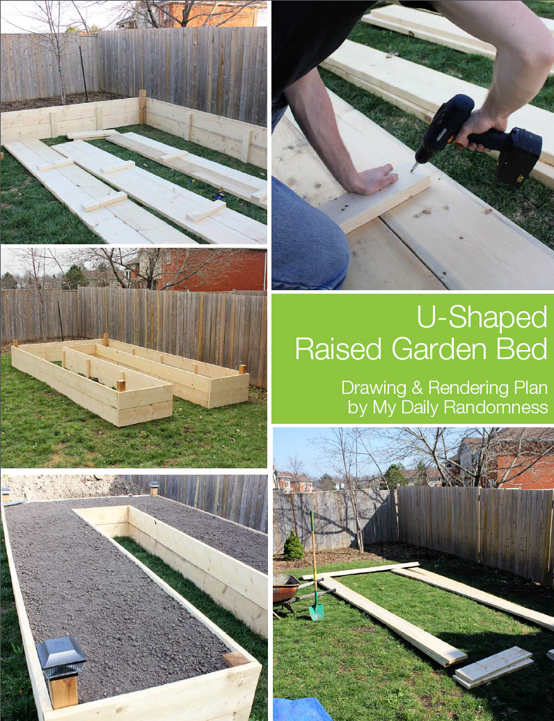 How To Build A U Shaped Raised Garden Bed Drawing And Rendering Brittany Stager