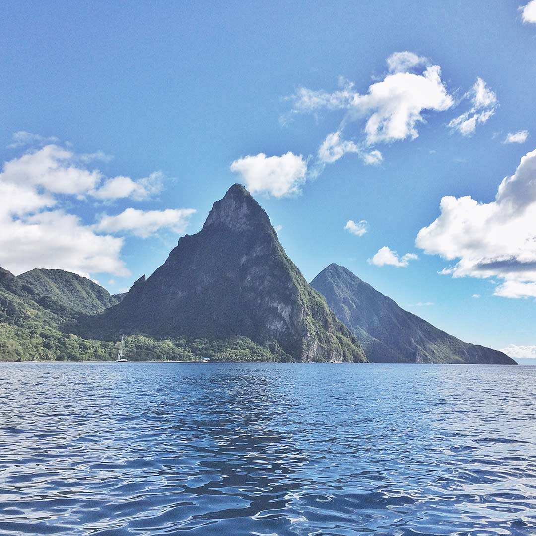The-Pitons-St-Lucia-Shoreline