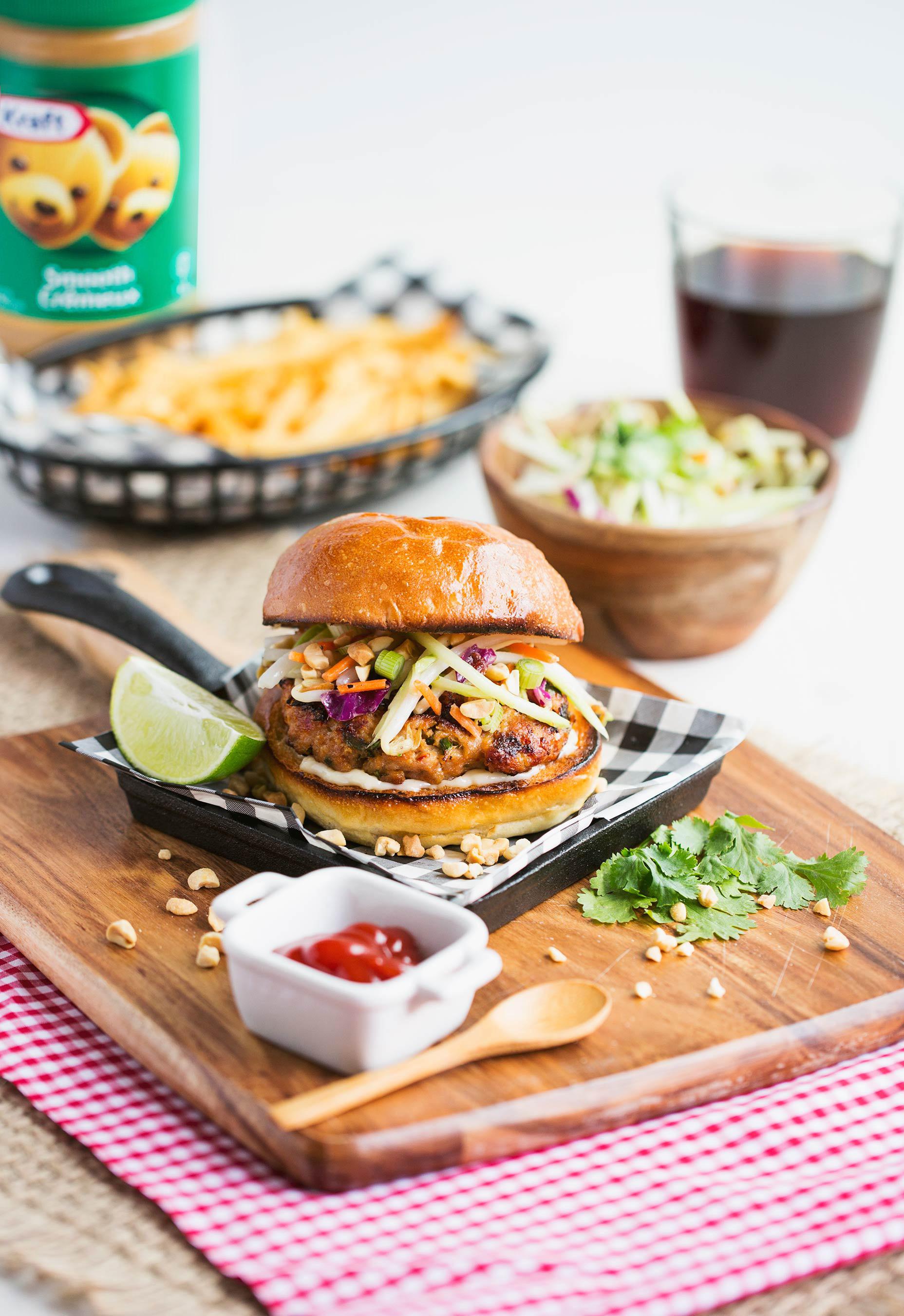 Kraft Peanut Butter Spicy Chicken Burger