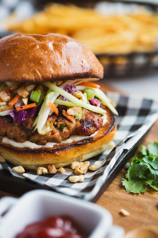 Pad Thai Chicken Burger