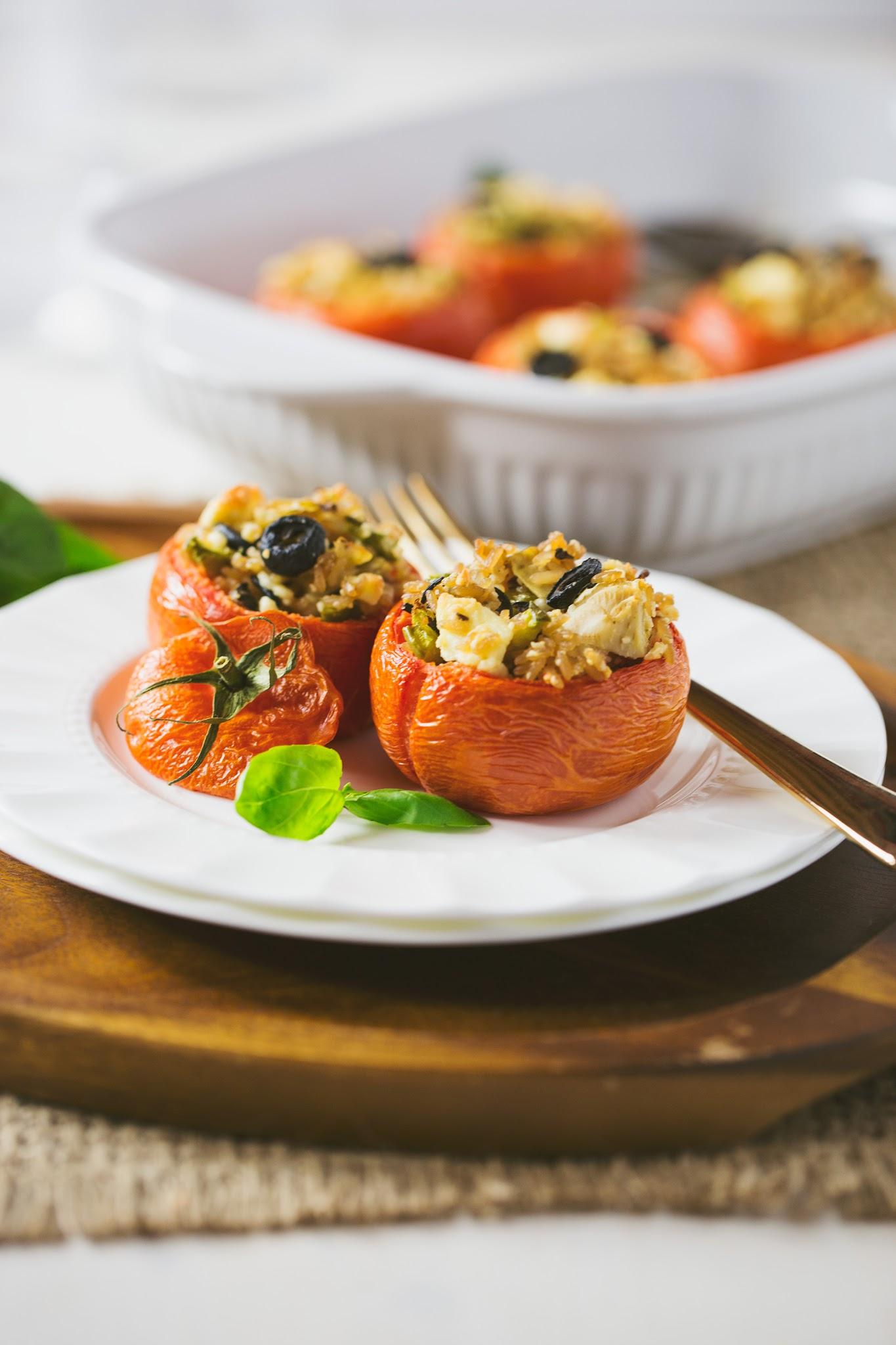 Easy-Minute-Rice-Greek-Stuffed-Tomatoes
