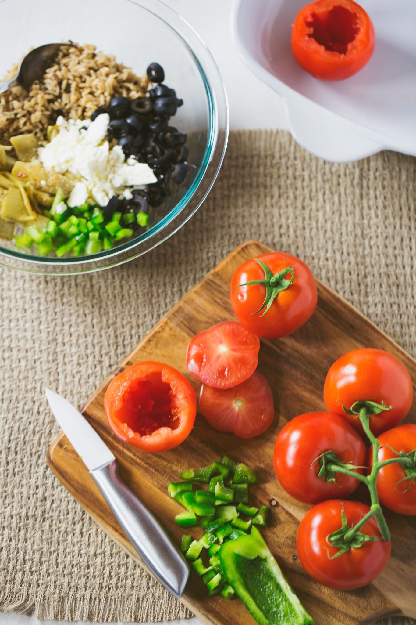 Stuffing-Greek-Tomatoes