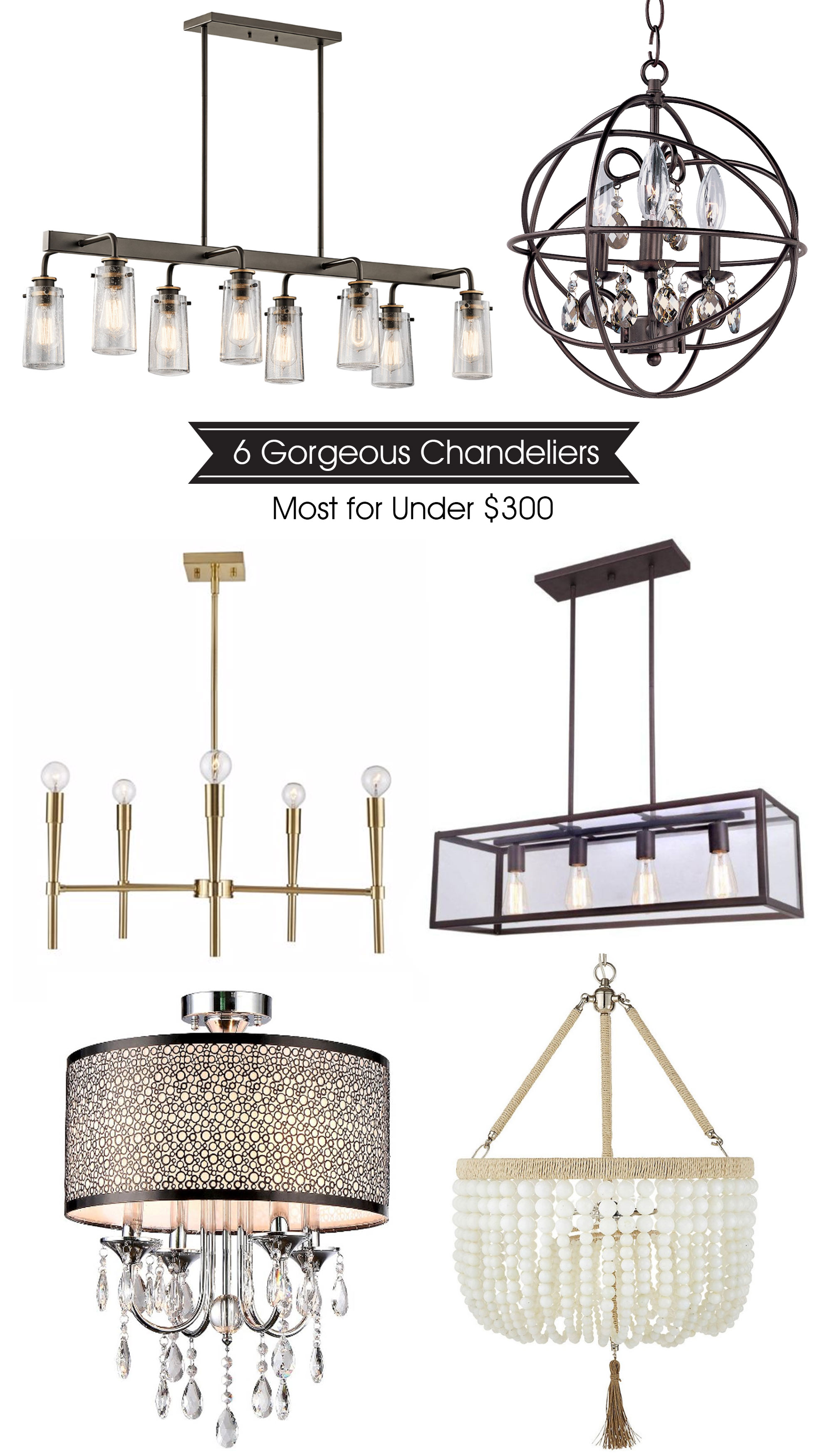 Great  chandeliers under