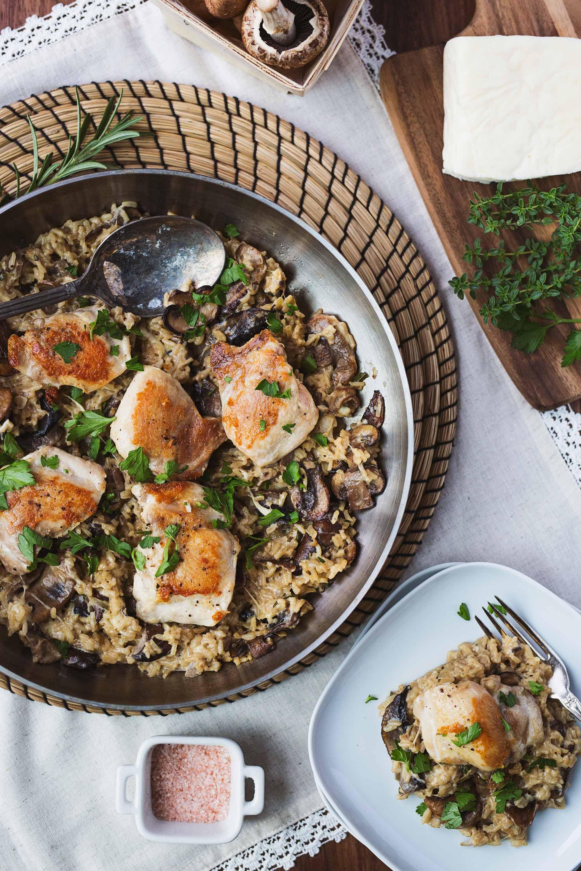 chicken-thighs-creamy-mushroom-minute-rice