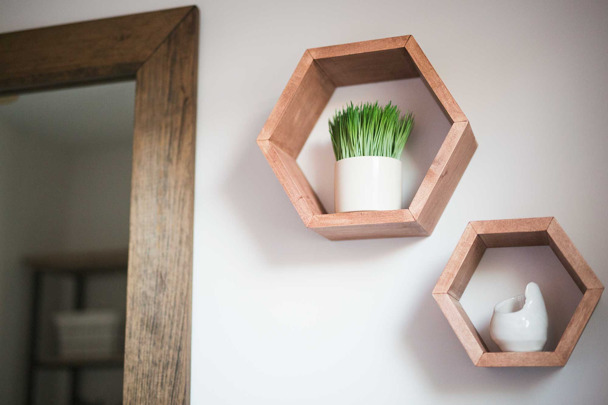 diy-hexigon-shelves