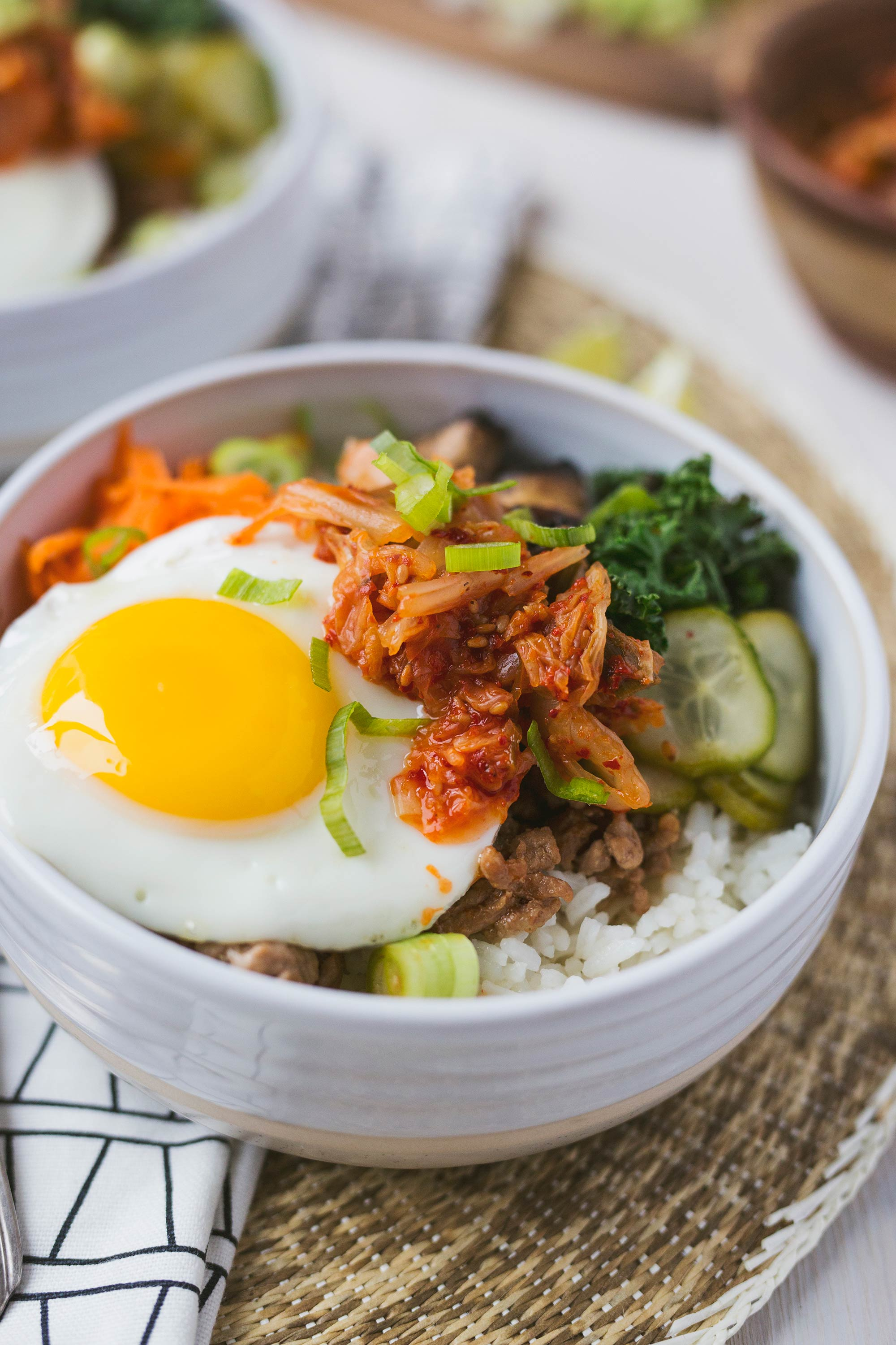 Easy Korean Rice Bowl with Kimchi