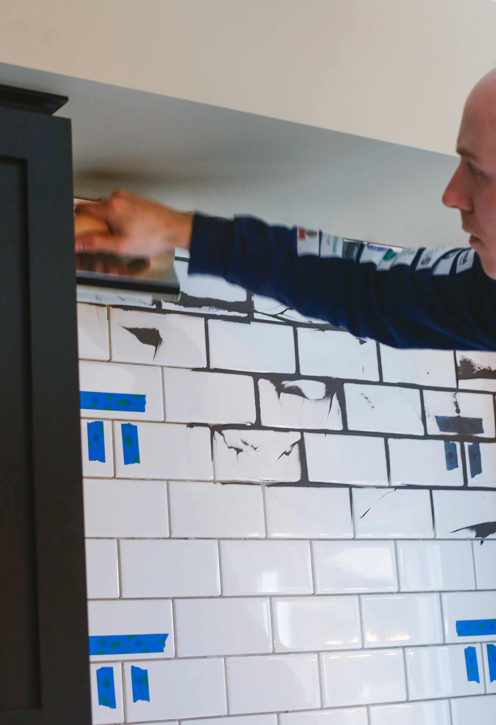 How to DIY a Subway Tile Backsplash