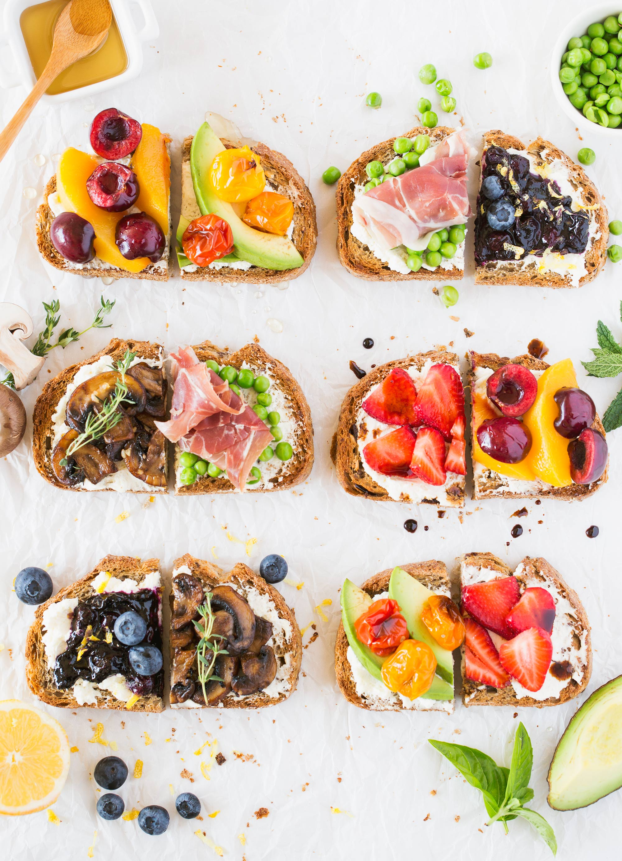 Sweet and Savoury Breakfast Toast Bar Ideas