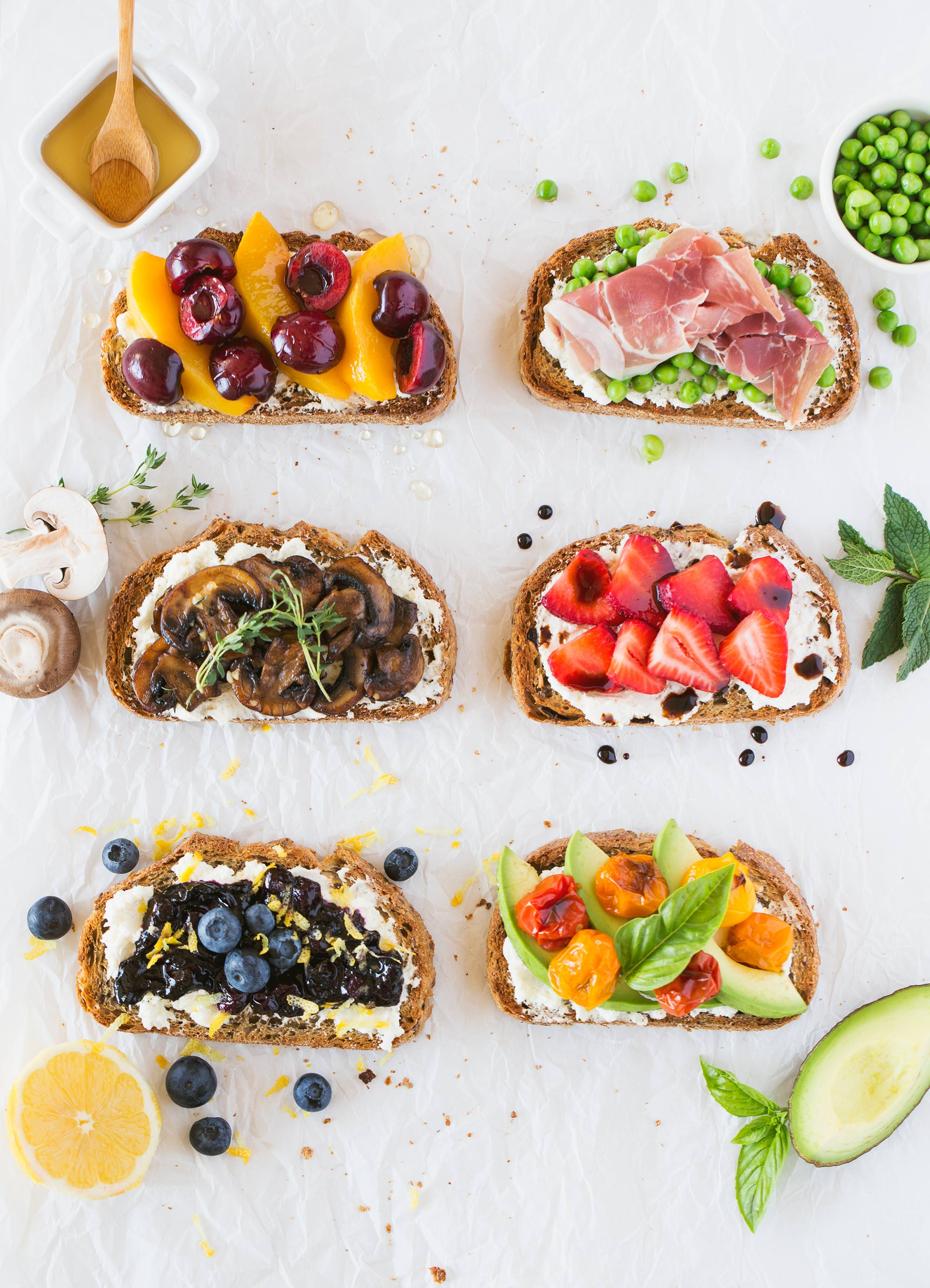 Sweet and Savoury Christmas Breakfast Toast Bar