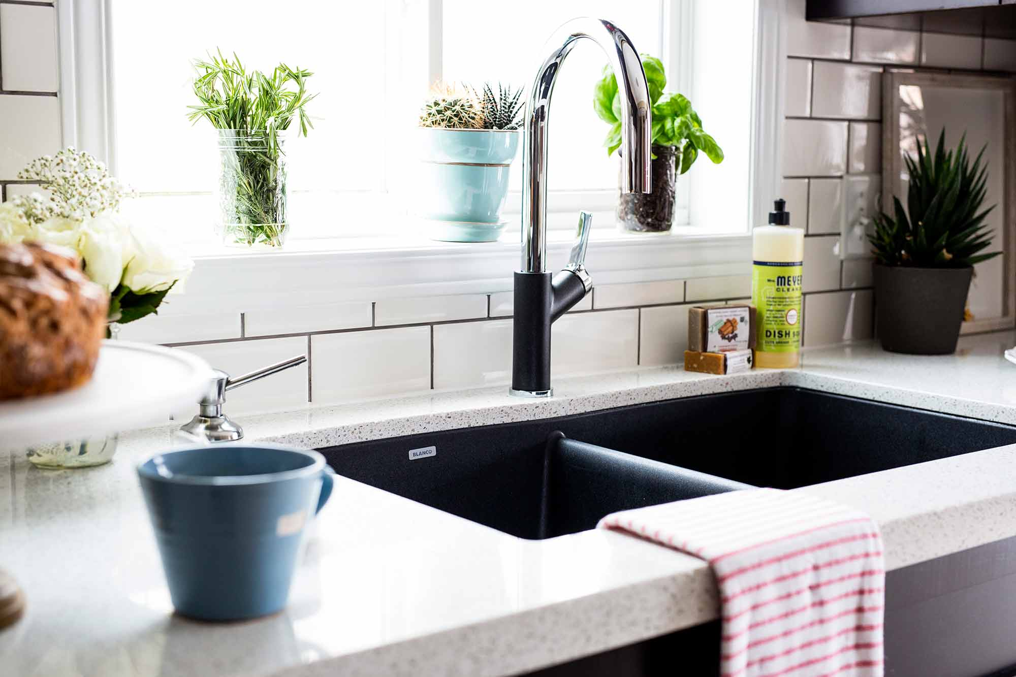 Blanco Canada Silgranit Black Sink with Matching Faucet