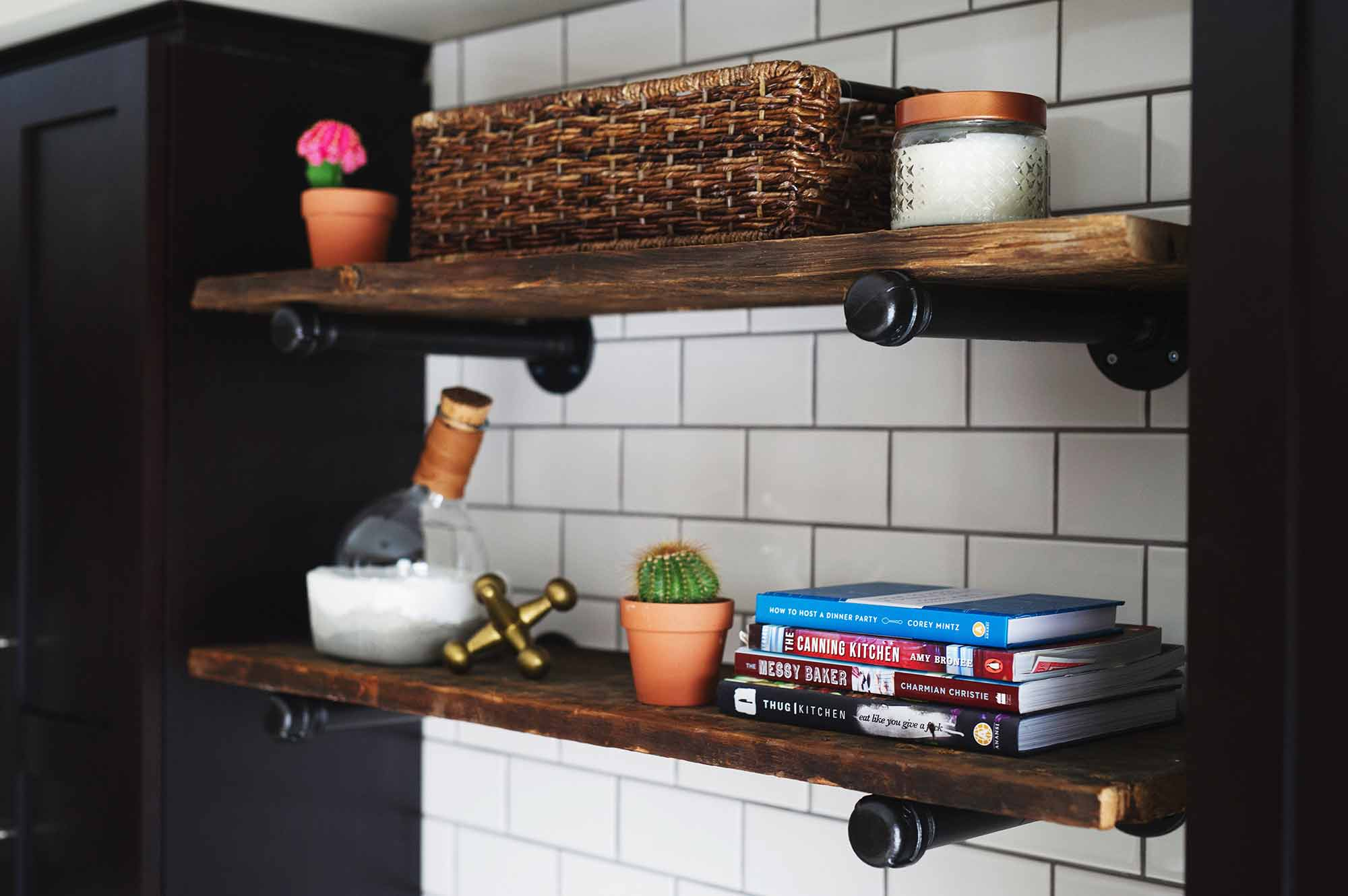 Easy Industrial Rustic Pipe Shelf DIY with Home Depot Canada