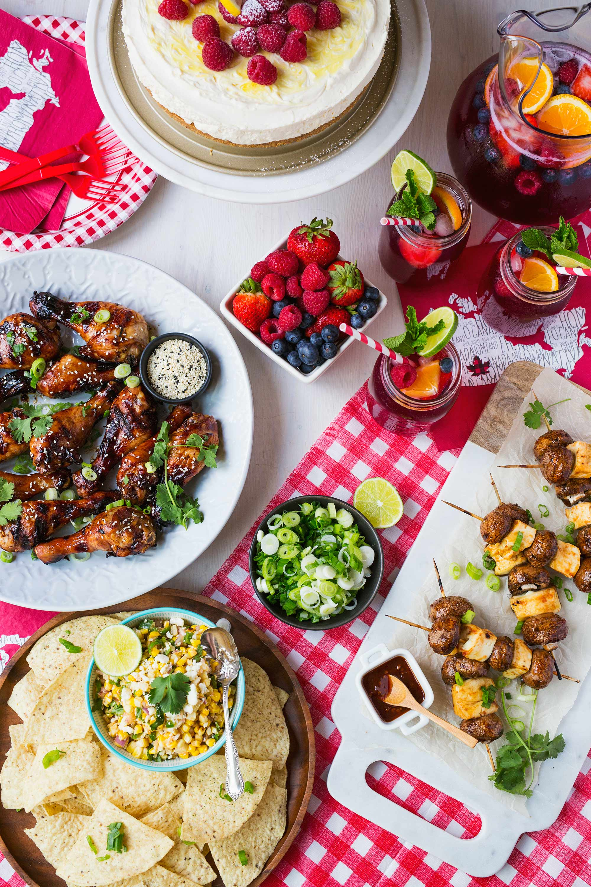With Canada Day Quickly Approaching I Wanted To Put Together A Festive Menu That Can Be Prepared And Enjoyed Outside In The Backyard