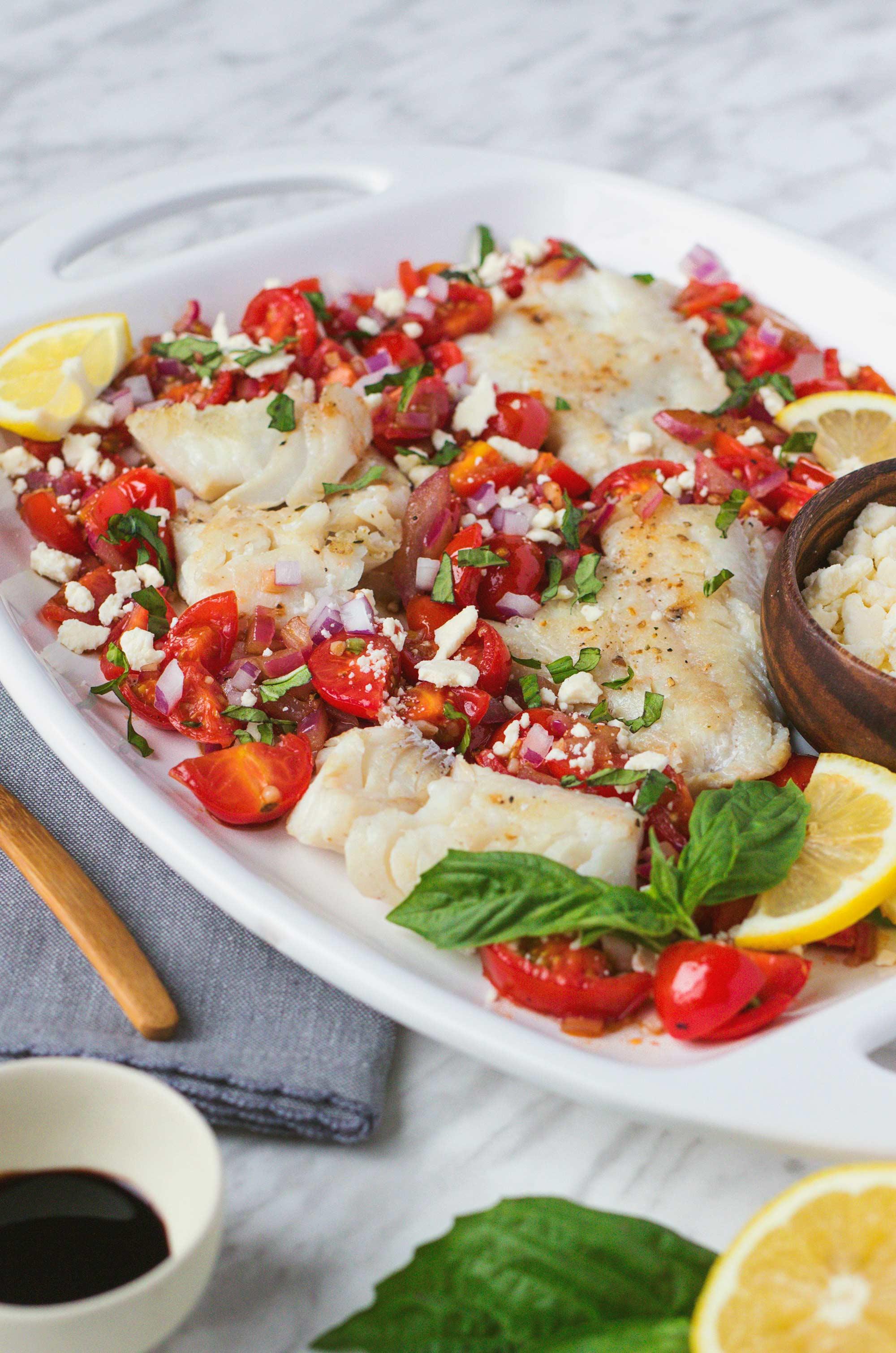 15 Minute Mediterranean Fish Dish by Greta
