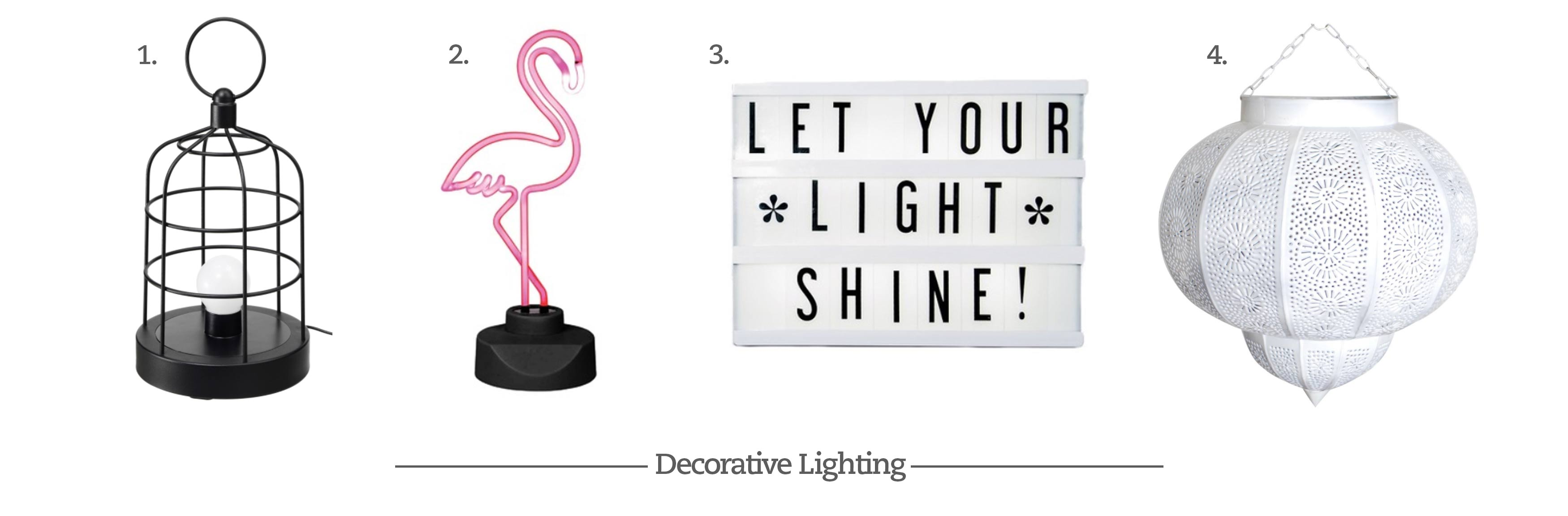 Decorative Lighting Options